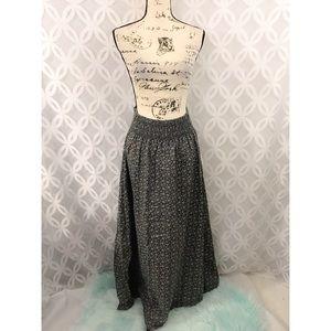 H&M Floral Long Maxi Skirt